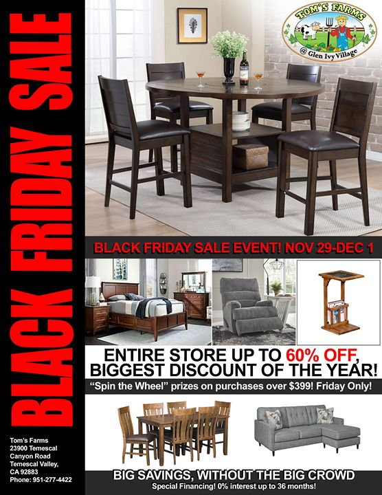 Black Friday Furniture Event